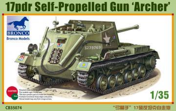 17pdr Self-Propelled Gun Archer · BRON CB35074 ·  Bronco Models · 1:35
