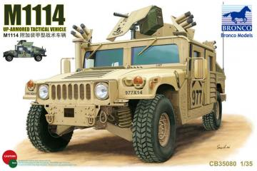 M1114 Up-Armored Tactical Vehicle · BRON CB35080 ·  Bronco Models · 1:35