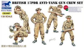 17pdr Anti-Tank Gun Crew Set · BRON CB35087 ·  Bronco Models · 1:35