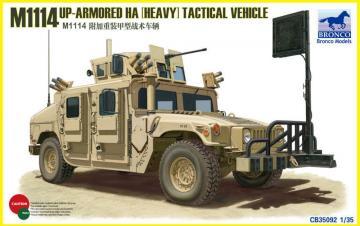 M1114 Up-Armoured HA(heavy)Tactical Vehi · BRON CB35092 ·  Bronco Models · 1:35