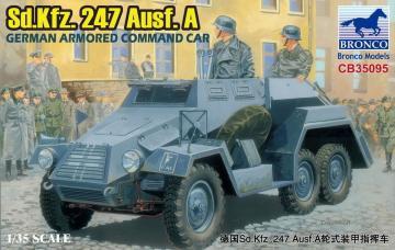 Sd.Kfz.247 Ausf.A.German Armored Command Car · BRON CB35095 ·  Bronco Models · 1:35