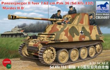Sd Kfz 132 Marder IID · BRON CB35097 ·  Bronco Models · 1:35