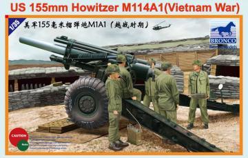US 155mm Howitzer M114A1 (Vietnam War) · BRON CB35102 ·  Bronco Models · 1:35