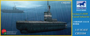 German U-XXIII Coastal Submarin · BRON CB35104 ·  Bronco Models · 1:35