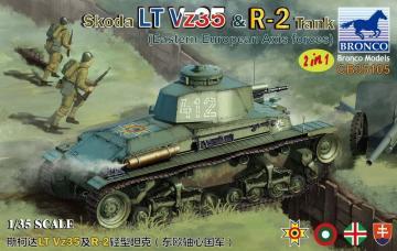 Skoda LT Vz35 & R-2 Tank 2in1 (Eastern European Axis Forces) · BRON CB35105 ·  Bronco Models · 1:35