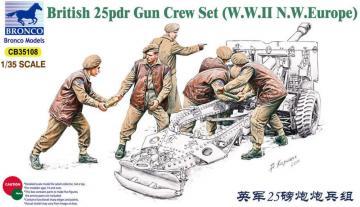 25pdr Gun Crew Set · BRON CB35108 ·  Bronco Models · 1:35