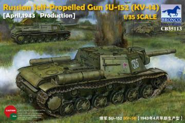 Russian Self-Propelled Gun SU-152(KV-14) (March 1943 Produktion)-Early Version · BRON CB35113 ·  Bronco Models · 1:35