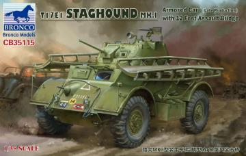 T17E1 STAGHOUND MK.I Armored Car (Late Produktion)w.12 Feet Assault Bridge · BRON CB35115 ·  Bronco Models · 1:35