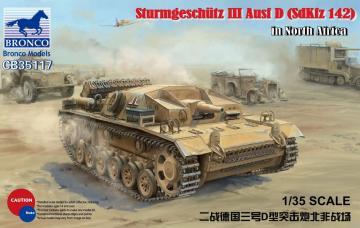 WWII German Assault Gun SturmgeschützIII Ausf D (SdKfz 142) in El Alamein · BRON CB35117 ·  Bronco Models · 1:35