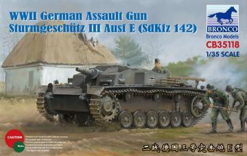 WWII German Assault Gun Sturmgesch?tz III Ausf E (SdKfz 142) · BRON CB35118 ·  Bronco Models · 1:35