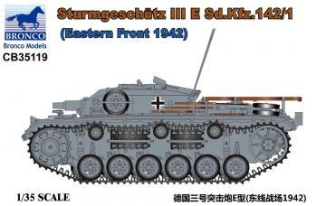 Sturmgeschütz III E Sd.Kfz.142/1(Eastern Front 1942) · BRON CB35119 ·  Bronco Models · 1:35