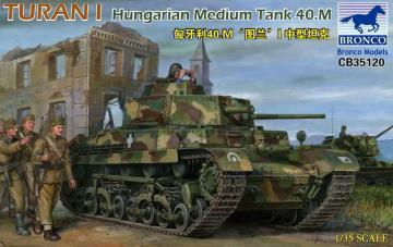 Turan I Hungarian Medium Tank 40.M · BRON CB35120 ·  Bronco Models · 1:35