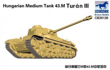 Hungarian Medium Tank 43.M Turan III · BRON CB35126 ·  Bronco Models · 1:35