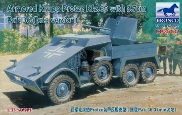 Armored Krupp Protze Kfz.69 with 3.7cm Pak 36 (late version) · BRON CB35132 ·  Bronco Models · 1:35