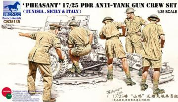 17/25 pdr Anti-Tank Gun Crew Set · BRON CB35135 ·  Bronco Models · 1:35