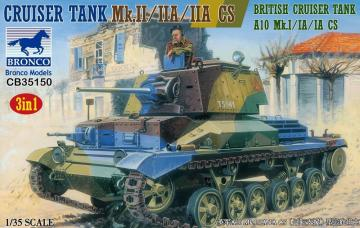 Crusier Tank Mk.II/IIA/IIA CS British Crusier Tank A10 Mk.I/IA/IA (3in1) · BRON CB35150 ·  Bronco Models · 1:35