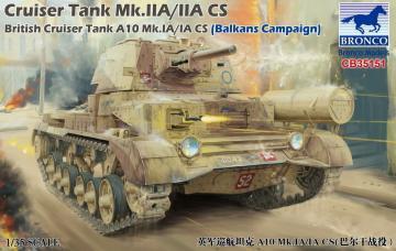 Cruiser Tank Mk.IIA/IIA CS British Cruiser Tank A10 Mk.IA/IA CS (Balkans Campaign) · BRON CB35151 ·  Bronco Models · 1:35