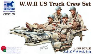 WWII US Truck Crew Set · BRON CB35159 ·  Bronco Models · 1:35