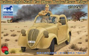 Italian Light Staff Car(Open Top) w/Crew Libya · BRON CB35164 ·  Bronco Models · 1:35