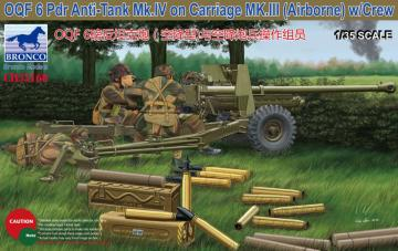 OQF 6 PDR Anti-Tank Mk.IV on Carriage MK.III(Airborna) w/Crew · BRON CB35168 ·  Bronco Models · 1:35
