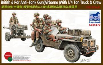 6 Pdr Anti-Tank Gun(Airborne)With 1/4Ton · BRON CB35170 ·  Bronco Models · 1:35
