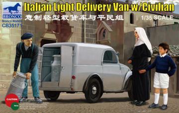 Italian Delivery Van w/civilian · BRON CB35171 ·  Bronco Models · 1:35