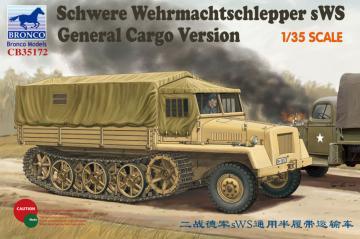 German sWs Tractor Cargo Version · BRON CB35172 ·  Bronco Models · 1:35