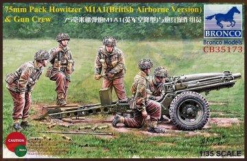 75mm Pack Howitzer M1A1(British Airborne Version) & Gun Crew · BRON CB35173 ·  Bronco Models · 1:35