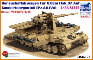 Versuchsflakwagen 8.8cm Flak 37 auf Sonderfahrgestell(Pz.Sfl.IVc) · BRON CB35174 ·  Bronco Models · 1:35