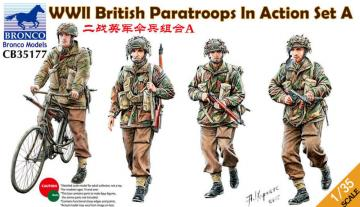 WWII British Paratroops In Action Set A · BRON CB35177 ·  Bronco Models · 1:35