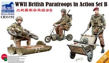 WWII British Parattroops In Action Set B · BRON CB35192 ·  Bronco Models · 1:35