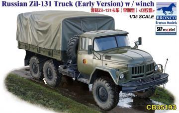Russian Zil-131 Truck (Early Version) w/winch · BRON CB35193 ·  Bronco Models · 1:35