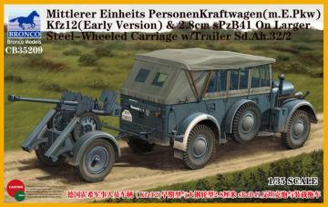 Mittlerer Einheits PersonenKraftwagen (m.E.PKW)Kfz12(Early Version)&2.8cmSPz · BRON CB35209 ·  Bronco Models · 1:35