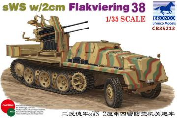 sWS w/2cm Flakviering 38 · BRON CB35213 ·  Bronco Models · 1:35