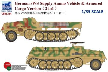 German sWS Supply Ammo Vehicle & Armored Cargo Version (2 in 1) · BRON CB35214 ·  Bronco Models · 1:35