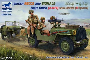 British Reece and Signals Light Truck (2 Kits) with Crews · BRON CB35218 ·  Bronco Models · 1:35