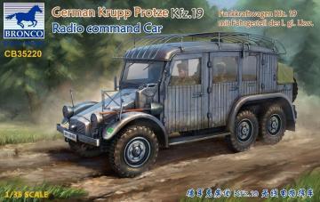 German Krupp Protze Kfz.19 Radio command Car  · BRON CB35220 ·  Bronco Models · 1:35