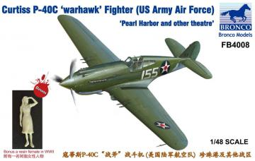 Curtiss P-40C´Warhawk´Fighter (US Army Air Force) · BRON FB4008 ·  Bronco Models · 1:48