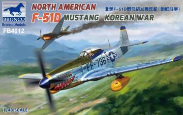 North American F-51D Mustang Korean War · BRON FB4012 ·  Bronco Models · 1:48