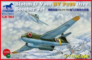 Blohm & Voss BV P178 Dive Bomber Jet · BRON GB7001 ·  Bronco Models · 1:72