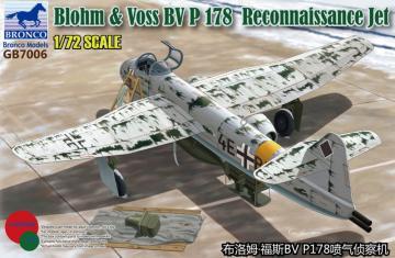 Blohm & Voss BV P.178 Reconnaissance Jet · BRON GB7006 ·  Bronco Models · 1:72