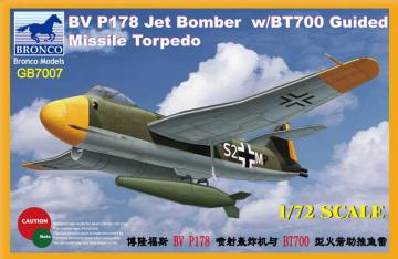 Blohm & Voss BV P178 Jet Bomber w/BT700 Guided Missile Torpedo · BRON GB7007 ·  Bronco Models · 1:72