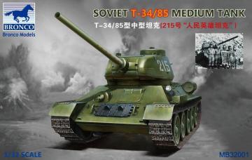 Soviet  T-34/85 Medium Tank · BRON MB32001 ·  Bronco Models · 1:32