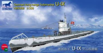 German Long Range Submarine Type U-IX A · BRON NB5008 ·  Bronco Models · 1:350