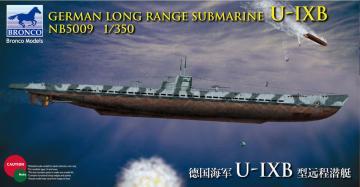 German Long Range Submarine Type U-IX B · BRON NB5009 ·  Bronco Models · 1:350