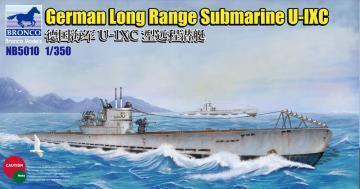 German Long Range Submarine Type U-IXC · BRON NB5010 ·  Bronco Models · 1:350