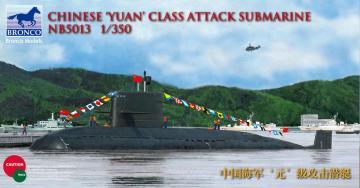 Chinese Yuan class Attack Submarine · BRON NB5013 ·  Bronco Models · 1:350