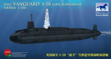 HMS-28 Vanguard SSBN Submarine · BRON NB5014 ·  Bronco Models · 1:350