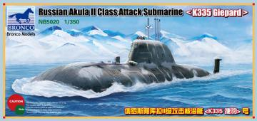 Russian Akula II Class Attack Submarine K335 Giepard · BRON NB5020 ·  Bronco Models · 1:350