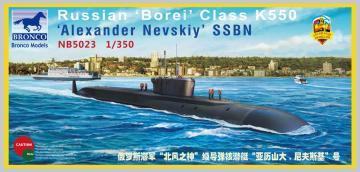 Russian Borei Class K-550 Alexander Nevsk · BRON NB5023 ·  Bronco Models · 1:350
